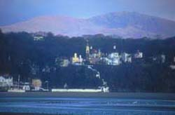 Portmeirion from across the estuary