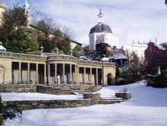Portmeirion in snow