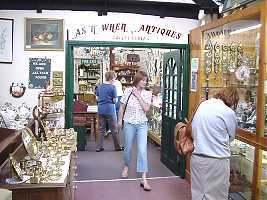 Part of the exhibition area in the Afonwen Craft and Antique Centre
