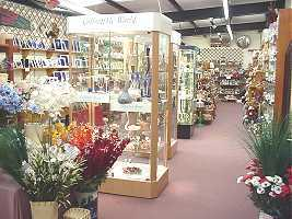 The main exhibition area of The Afonwen Craft and Antique Centre